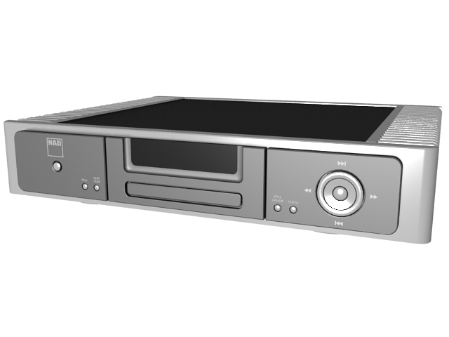 NAD Blu-ray Disc Player 3d rendering