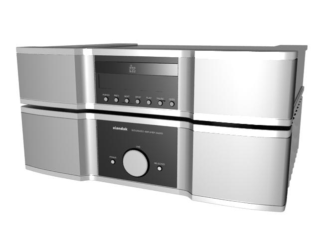 Xindak Hi-Fi amplifier and CD player 3d rendering