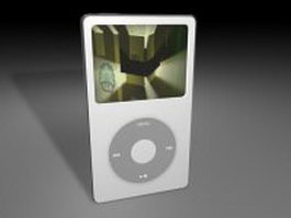 Apple iPod portable media player 3d preview