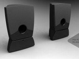 HP speakers 3d model preview