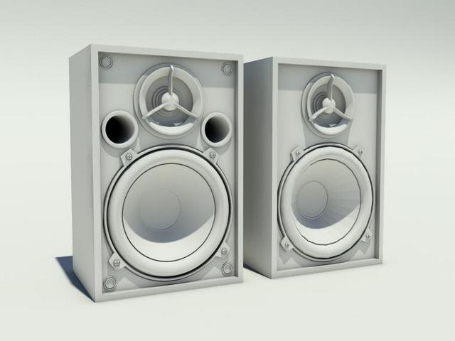 High definition speakers 3d rendering