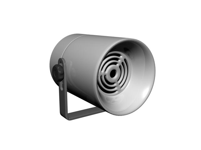 Broadcast loudspeaker 3d rendering
