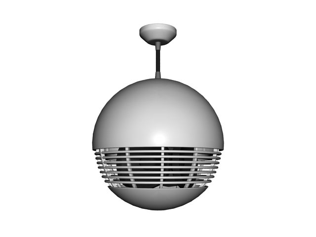 Pendent ball speaker 3d rendering