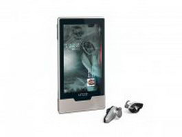 Zune mp3 player 3d preview