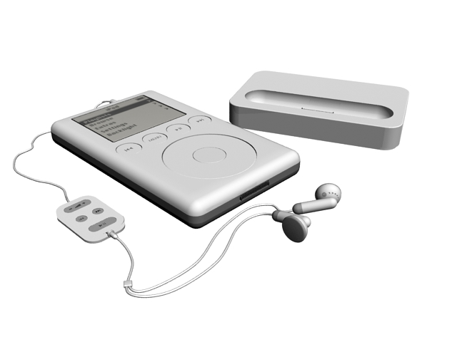 iPod 3rd generation 3d rendering
