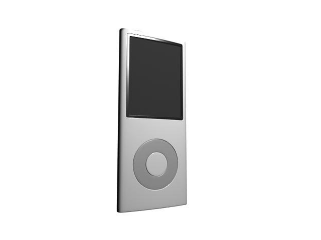 MP3 player touch screen 3d rendering