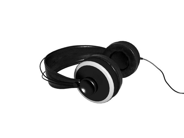 Full size headphones 3d rendering