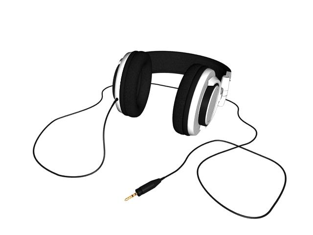 Stereo headphones 3d rendering