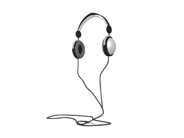 Hi-Fi headphones 3d rendering