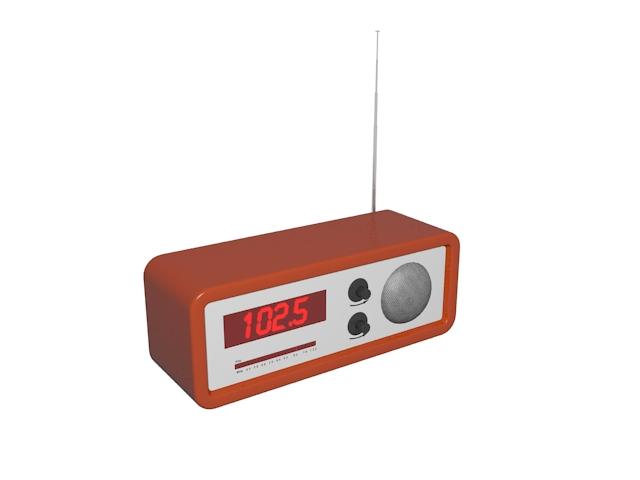 Vintage radio receiver 3d rendering