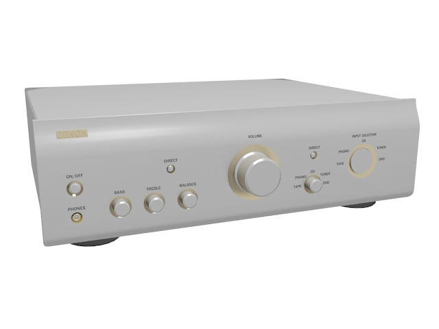 Electronic amplifier 3d rendering