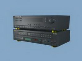 VCD player and amplifier 3d preview