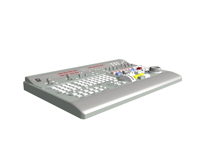 Audio mixing console 3d rendering