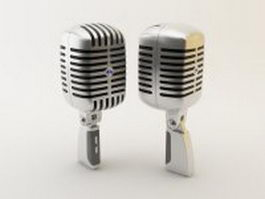 High-fidelity recording microphone 3d preview