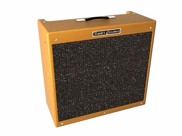 Fender Bassman guitar amplifier 3d rendering