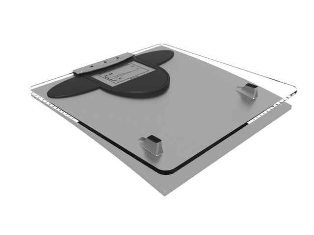 Digital body scale 3d preview