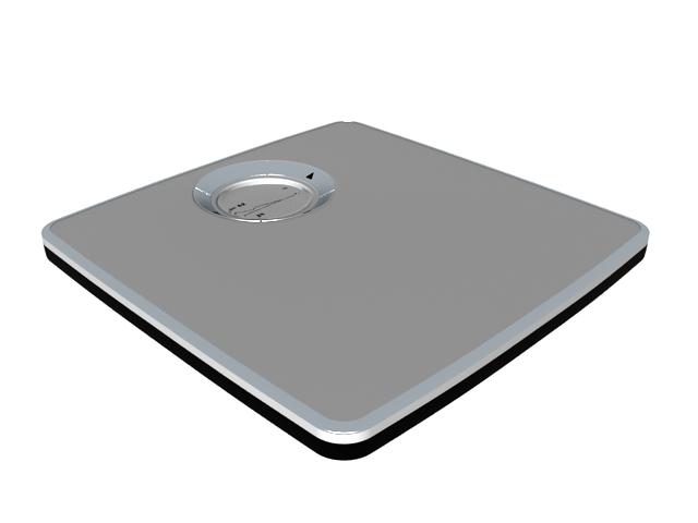 Bathroom scale 3d rendering