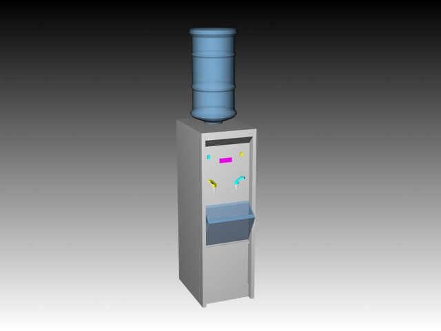 Water dispenser 3d rendering