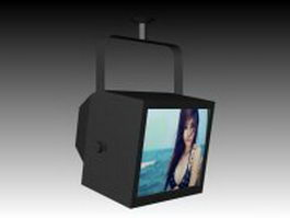 Ceiling mount TV 3d preview