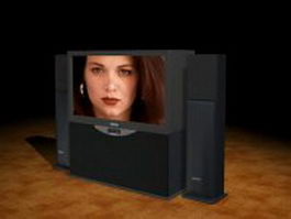 SONY rear-projection television 3d preview