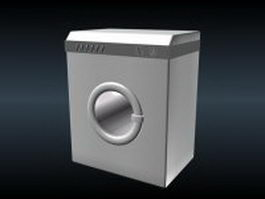 Low poly washing machine 3d preview
