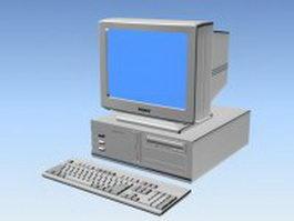 90s desktop computer 3d preview
