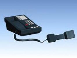 Dark blue telephone 3d model preview