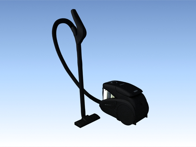 Household vacuum cleaner 3d rendering