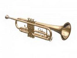 Bb trumpet 3d model preview