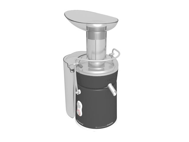Turbo juicer machine 3d rendering