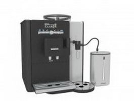 Siemens black coffee machine 3d model preview