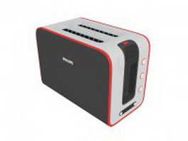 Philips toaster 3d preview