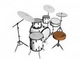 Drum set 3d preview
