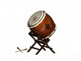 Japanese taiko drum 3d preview