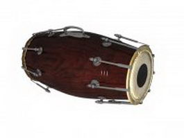 Indian naal drum 3d preview