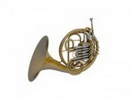 Modern horn 3d preview