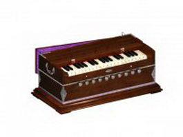 Indian harmonium 3d model preview