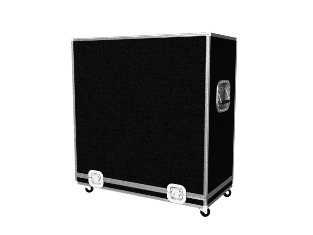 Guitar and bass Amp case 3d rendering