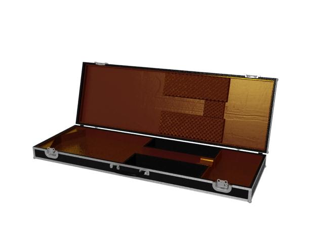 Black guitar case 3d rendering