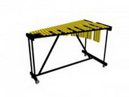 Xylophone instrument 3d model preview