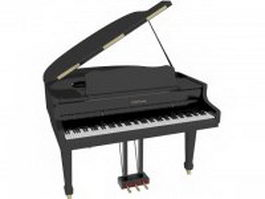 Tribal Tuesday grand piano 3d model preview