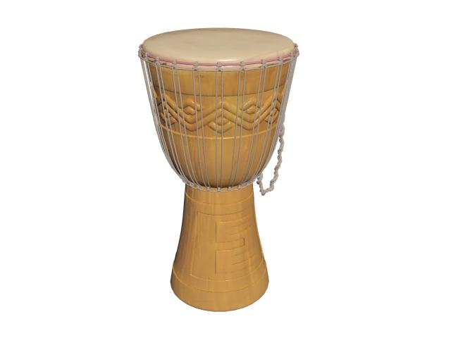 West Africa Bougarabou drum 3d rendering