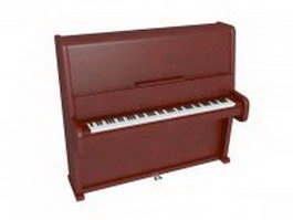 Antique upright piano 3d preview