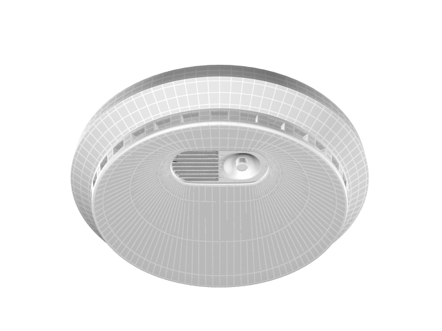Smoke alarm with voice 3d rendering