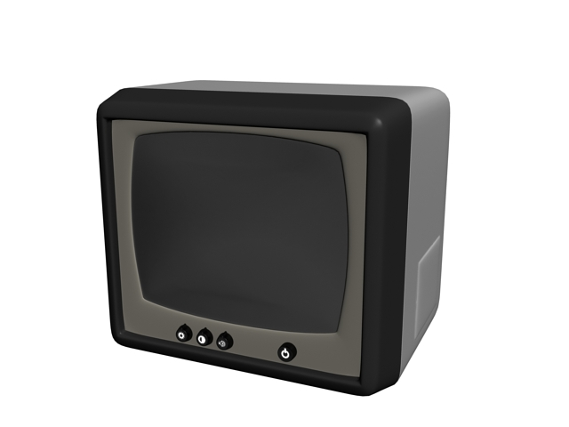 CRT security monitor 3d rendering