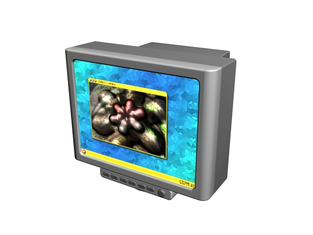 Color security monitor 3d rendering