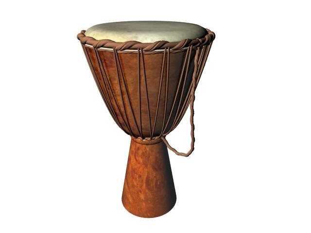 African goblet drum 3d rendering