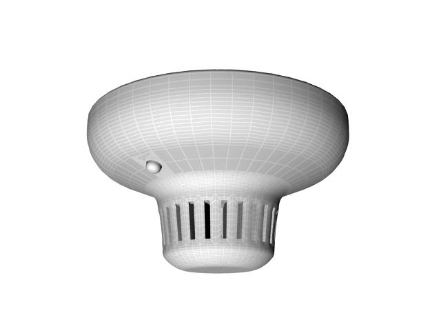 Optical smoke detector 3d rendering