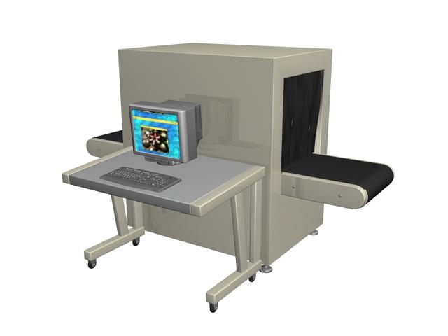 X-Ray baggage scanner 3d rendering