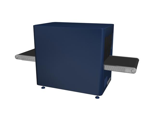 Baggage screening machine 3d rendering